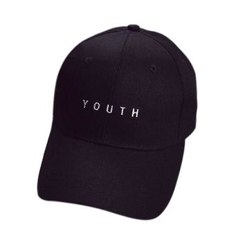 2018 Baseball Caps Youth Letter Men Woman Adjustable Caps Casual Hats Solid Colors Black White Fashion Snapback Summer Fall Cap