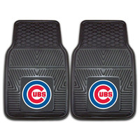 Chicago Cubs MLB Heavy Duty 2-Piece Vinyl Car Mats (18x27)