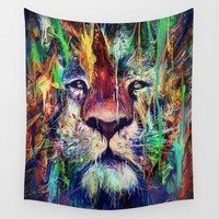 Trippy Lion Tapestry