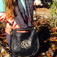 Monogrammed monogrammed purse/hobo bag/ Crossbody monogrammed bag /
