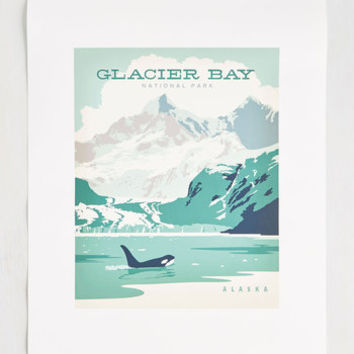 Been Great Sightseeing You Print in Glacier - 16x20 | Mod Retro Vintage Decor Accessories | ModCloth.com
