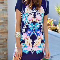 Floral Dress Spring - Multicolour Floral Shift Dress