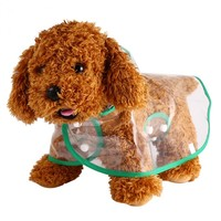 Dog Raincoat Pet Raincoat Waterproof Transparent Jacket Cat Clothing Pet Dog Rain Coat Fashion Outdoor Clothes