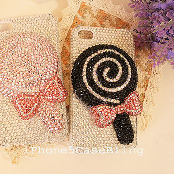 iPhone 5C case,  iphone 5 case, Bling iPhone 5C case, Cute iPhone 5C case, cute iphone 5 case, 3D lollipop iphone 5 case, iphone 4 case