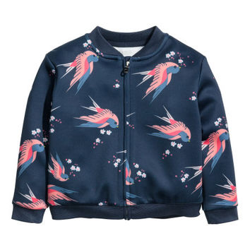 Patterned Scuba Jacket - from H&M