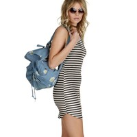 Charcoal Stripe It Up Tunic