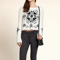 El Porto Beach Tribal Fuzzy Sweater
