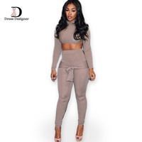 2015 New Fashion Lady Jumpsuit Pants Women Sexy Casual Slim Bandage Rompers Playsuits Overalls 2 Two Piece Jumpsuits Set