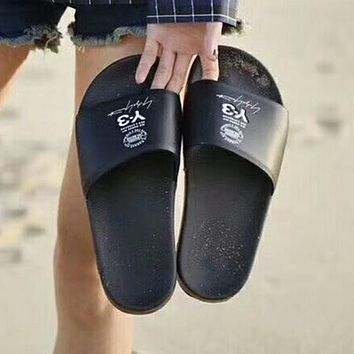 Adidas Y3 Woman Men Fashion Beach Slipper Sandals Shoes