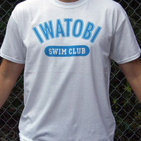 Iwatobi Swim Club Anime FREE! themed t-shirt 100% cotton Haruka Nagisa Rei Rin