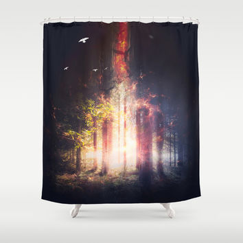 Feed me Shower Curtain by HappyMelvin