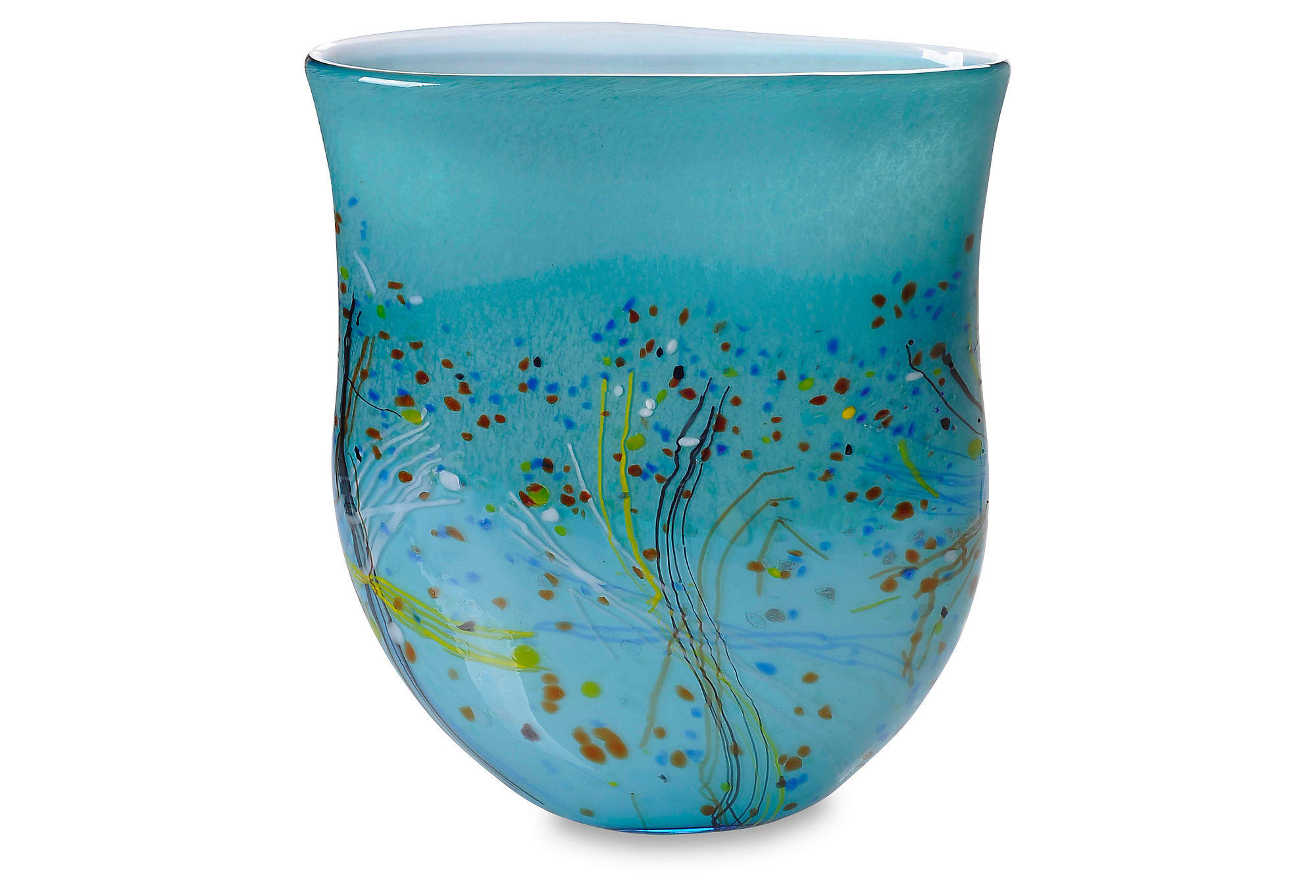 14 Quot Color Myriad Art Glass Vase Teal From One Kings Lane