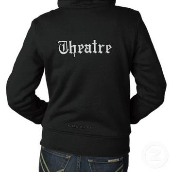 THEATRE Hoodie Full-Zip Sherpa Lined (ladies) from Zazzle.com