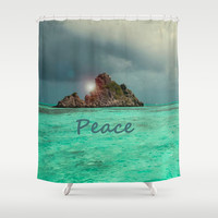 PEACE Shower Curtain by Catspaws