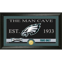 Philadelphia Eagles The Man Cave Bronze Coin Panoramic Photo Mint