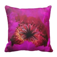 Bold & Brilliant Pink Cactus Flower Pillow