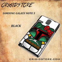 Boba Fett Hello Kitty Star Wars Black White Snap On 3D For Samsung Galaxy Note 3 Case
