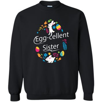Family Matching Easter Outfit For Sister Printed Crewneck Pullover Sweatshirt 8 oz