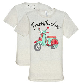 Southern Couture Lightheart Freewheelin Triblend Front Print T-Shirt
