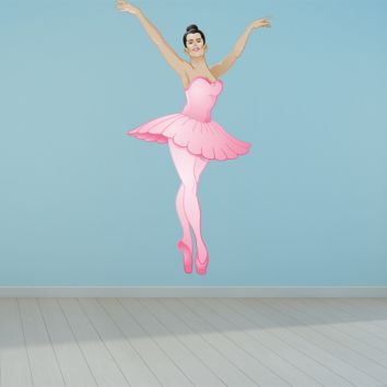 Wall Art Ballerina Wall Decals Pink Removable Repositionable Fathead style