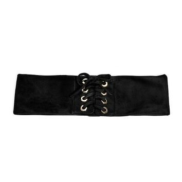 Faux-Suede Corset Belt at Guess