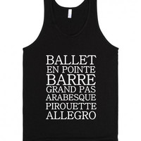 Ballet Dancer Tank Top  Shirt