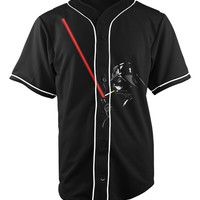 Darth Vader Black Button Up Baseball Jersey