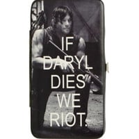 The Walking Dead If Daryl Dies We Riot Hinge Wallet