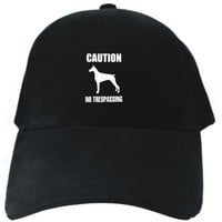 CAUTION : Doberman Pinscher - NO TRESPASSING Black Baseball Cap Unisex