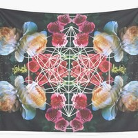 'Sacred Geometry' Wall Tapestry by galacticjelly