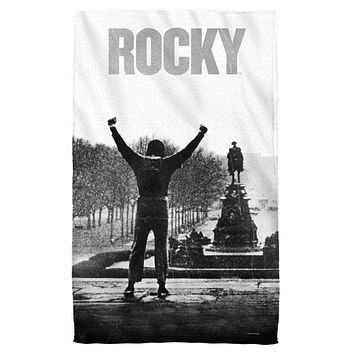 Rocky Poster Beach Towel