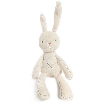 Free Shipping MaMas&papas Cute Rabbit Baby Soft Plush Toys Brinquedos 54CM White Cheapest Price Best Gift for Kids P001