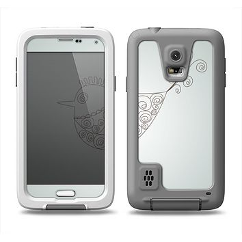 The Simple Vintage Bird on a String Samsung Galaxy S5 LifeProof Fre Case Skin Set