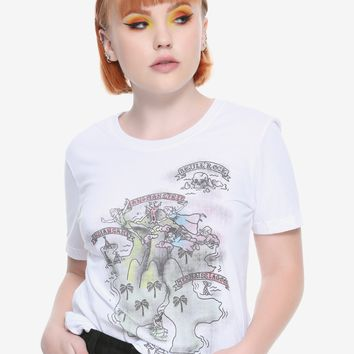 Disney Peter Pan Neverland Map Girls T-Shirt