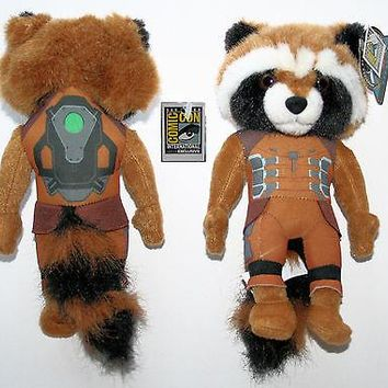 """Licensed cool SDCC COMIC CON 10"""" ROCKET RACCOON Marvel Guardians of the Galaxy Plush Toy Doll"""