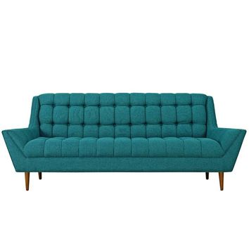 SANFORD UPHOLSTERED FABRIC SOFA IN TEAL