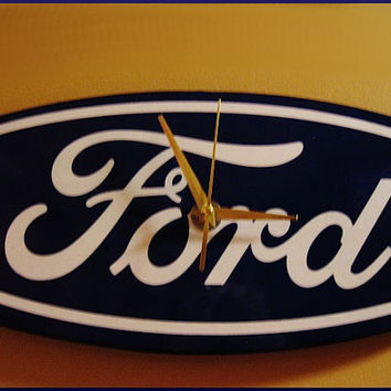 Wall Clock - Repurposed Car Advertisement 3D Metal Sign - Mancave Decor Men - Rat Rod Vintage Style Auto Decor