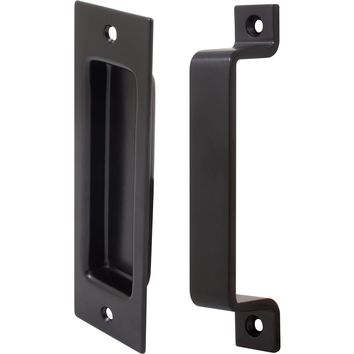 Sliding Door Flush Pull & Barn Pull Combo Set