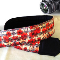 Notes Camera Strap. Flowers Camera Strap. Music Camera Strap. Camera Accessories