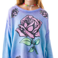 MinkPink Dreaming Rose Jumper Multi