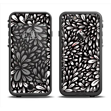 The Black Floral Sprout Apple iPhone 6 LifeProof Fre Case Skin Set