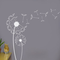 Dandelion wall decal set of two with blowing by HouseHoldWords