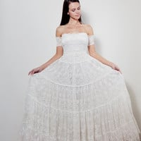 gorgeous strapless lace wedding dress with gypsy arm bands