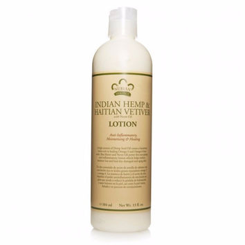 Nubian Heritage Body Lotion - Indian Hemp and Hatian Vetiver - 13 oz