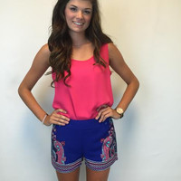 Royal Print Shorts