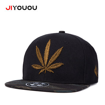 Original quality Cotton Baseball Cap  Outdoor Sun visor weed  flat eave hip hop hats panel Breathable sweat-absorbent casquette