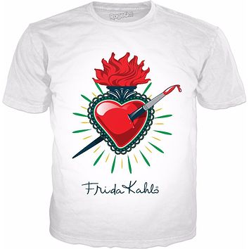 Frida Kahlo Pierced Heart Classic White T-Shirt
