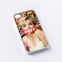 Marilyn Monroe Obey Style iPhone 4/4S, 5/5S, 5C,6,6plus,and Samsung s3,s4,s5,s6