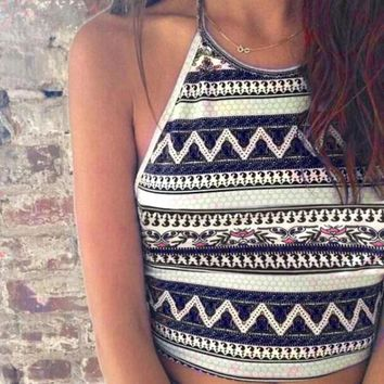 Boho Aztec Crop Top