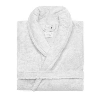 Cotton-Bamboo Robe | White